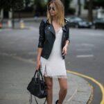 Outfits con chamarras de vinipiel y converse