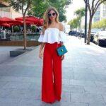 Outfits con palazzos coloridos