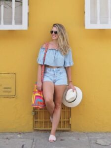 Outfits con short para la playa