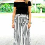 Pantalones con rayas verticales