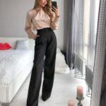 Pantalones de pierna ancha