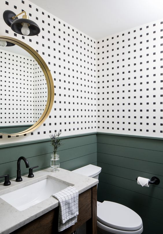 Papel tapiz impermeable para baños