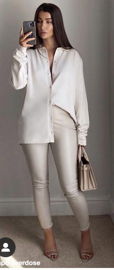 Procura usar leggins de un solo color