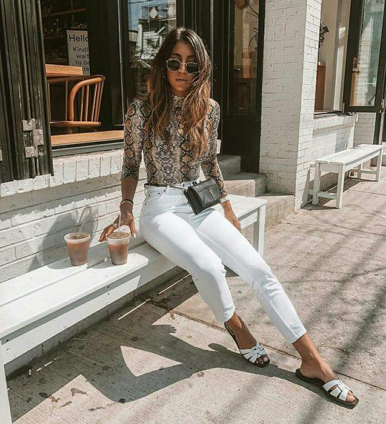 Skinny jeans blancos