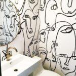 Tapiz para baños estilo vintage