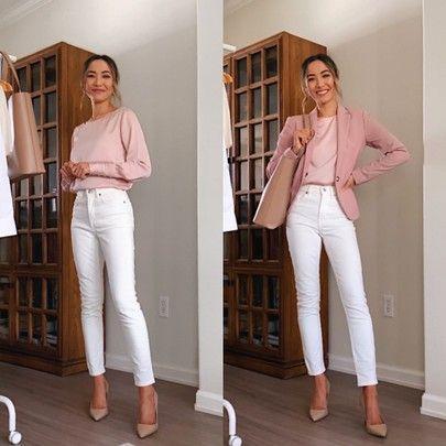 Toma en cuenta la ocasión para usar jeans blancos