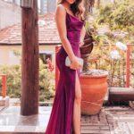 Vestidos color bugambilia para mujeres maduras