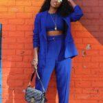 Viste de color azul