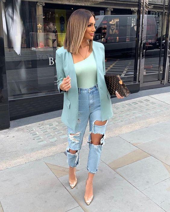 Blazers en colores de moda