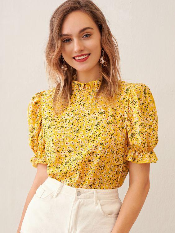 Blusas con estampado floral