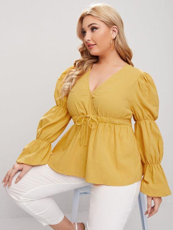 Blusas de moda shein plus size