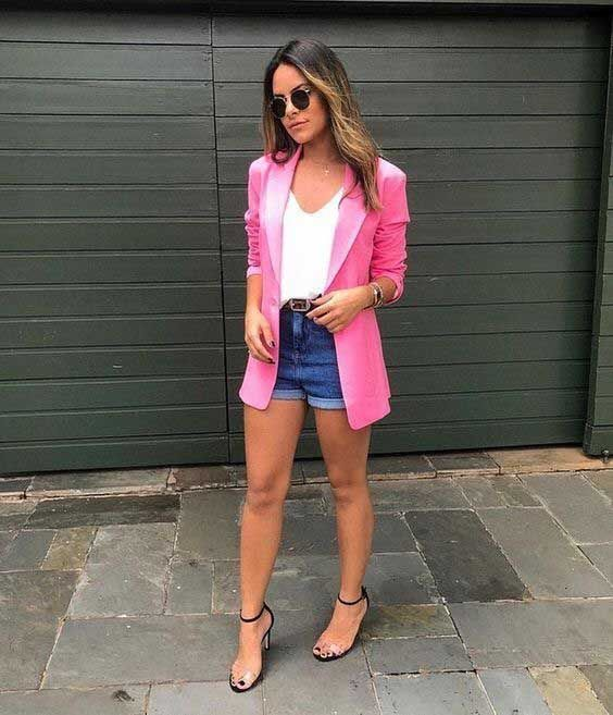 Combina blazers con short