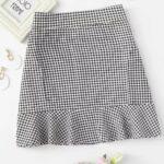 Diseño falda de cuadros para mujer