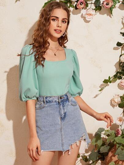 Diseños de blusas de mangas anchas shein