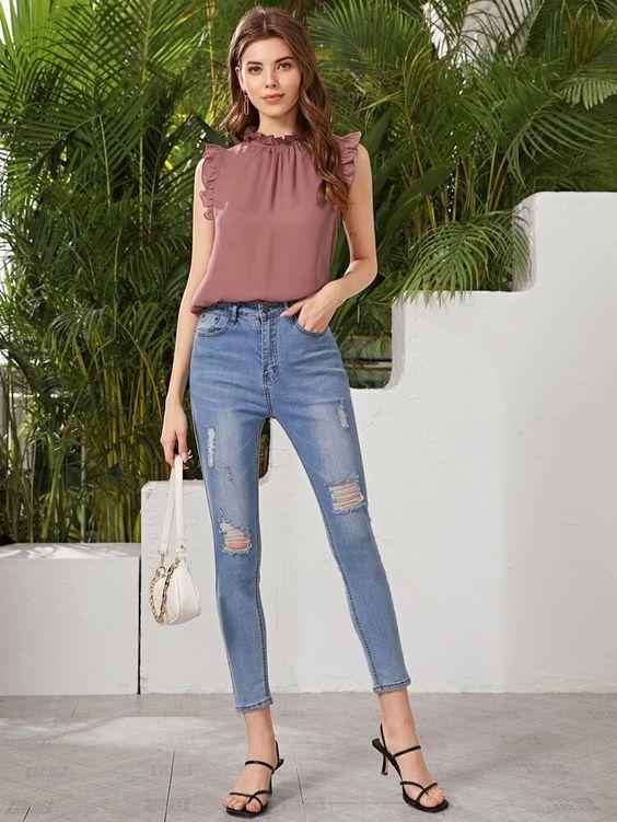 Diseños de blusas de moda sencillas