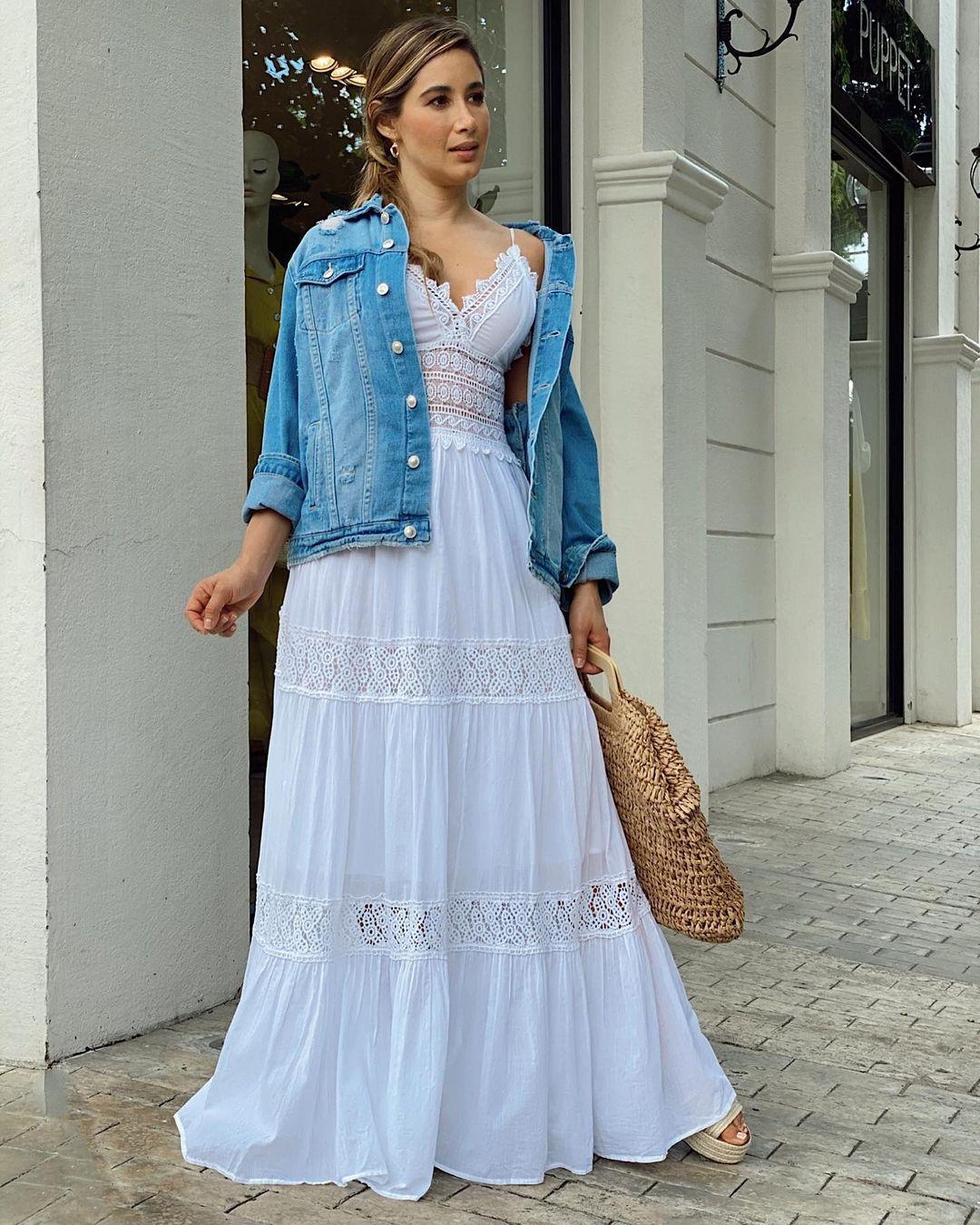 Diseños de maxi vestidos casuales