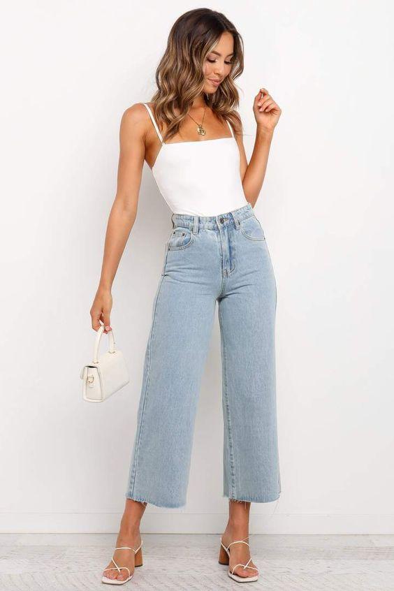 Diseños de pantalones pierna ancha shein
