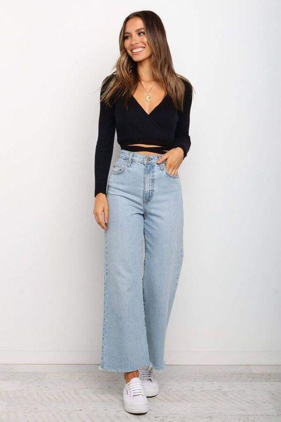 Pantalones shein de pierna ancha