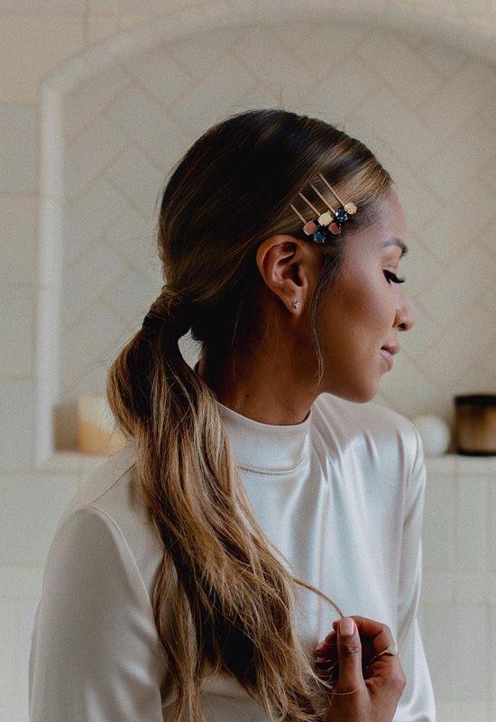 Hazte peinados con broches