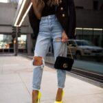 Looks con blazer, jeans y tacones
