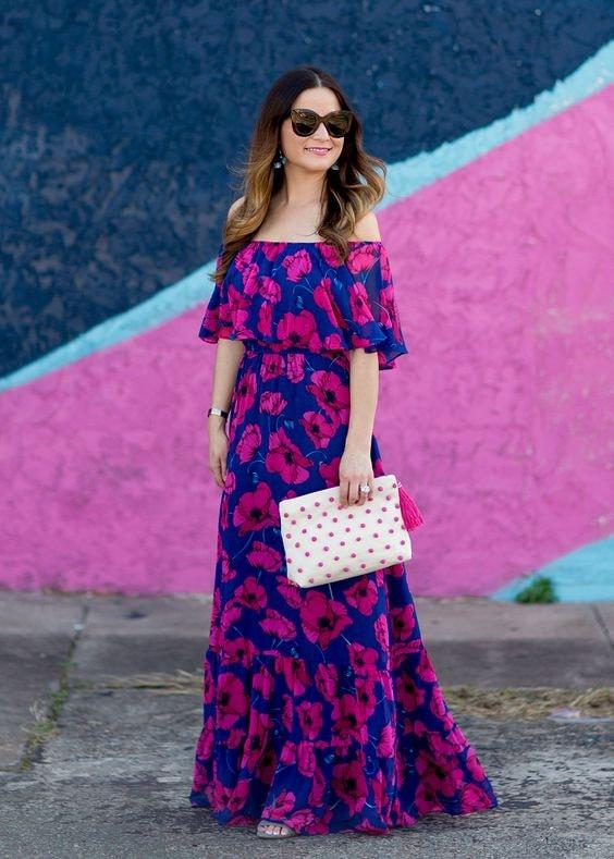 Maxi vestidos floreados