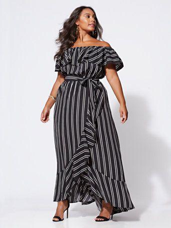 Maxi vestidos para señoras gorditas