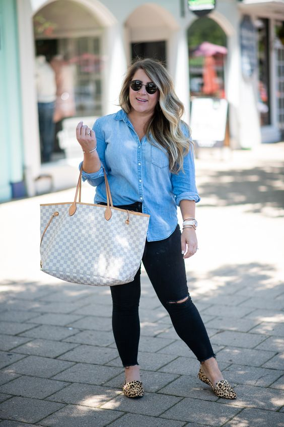 Outfits casuales con jeans para mujeres gorditas
