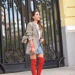 Outfits con blazer y botas