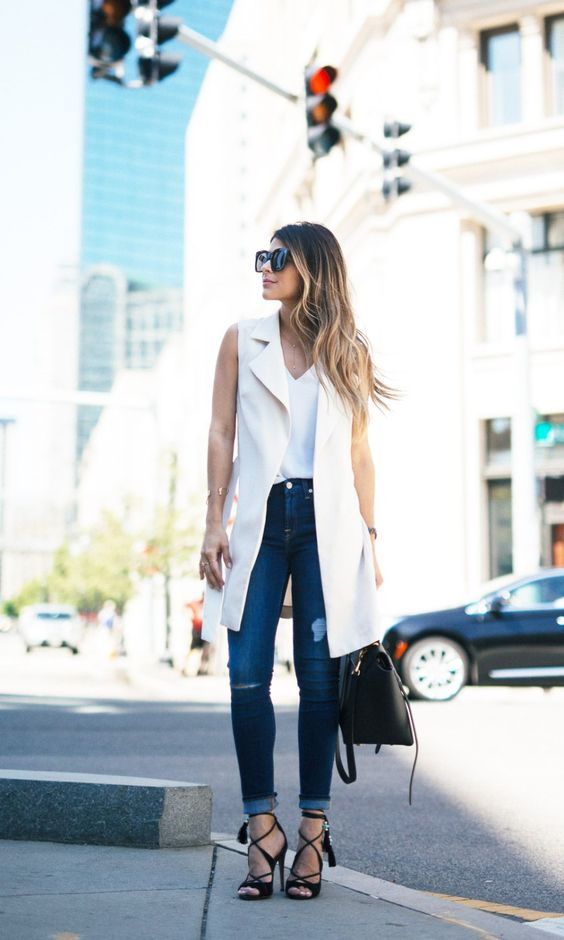 Outfits con chalecos oversize shein