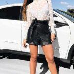 Outfits con shorts de cuero