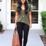 Outfits de leggins negros con flats