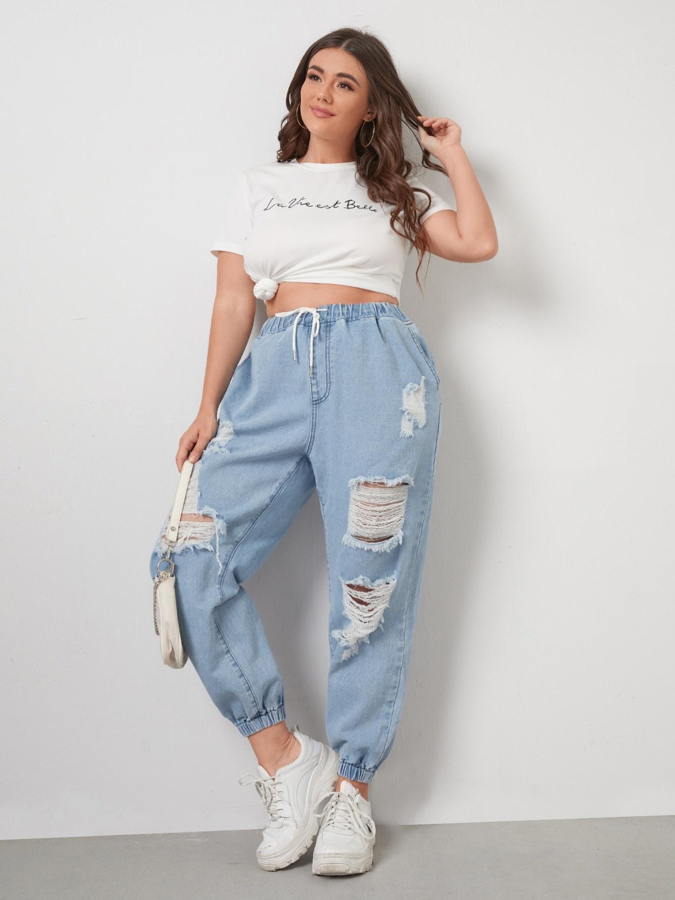 Jeans de mezclilla shein tallas grandes
