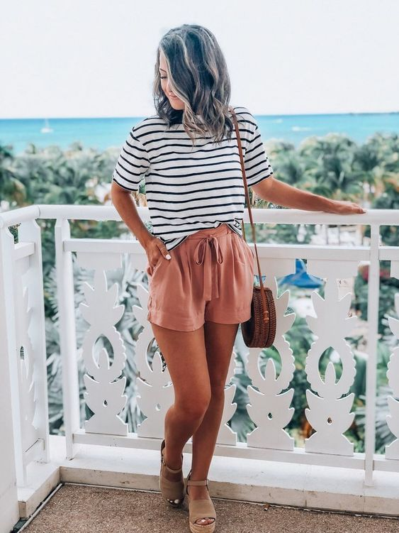 Shorts casuales shein