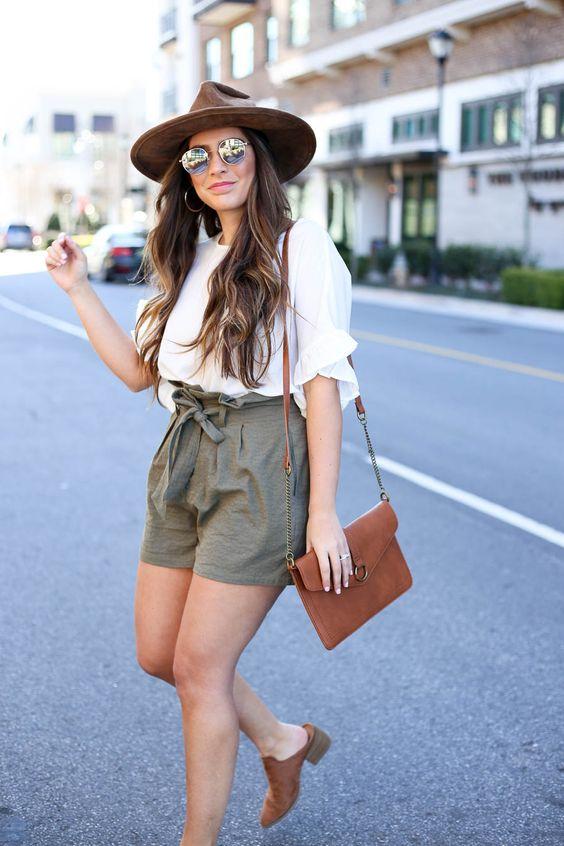 Shorts estilo safari