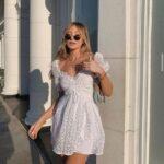 Vestidos blancos de moda verano 2021