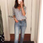Acentúa tu silueta con skinny jeans a la cintura