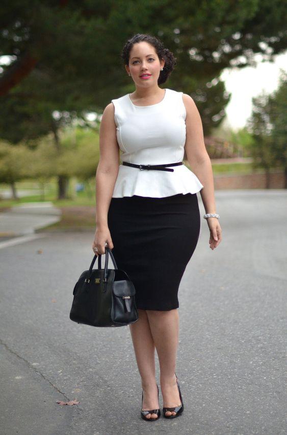 Ideas de outfits elegantes y juveniles con falda para gorditas