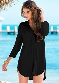 Ideas de vestidos negros para la playa