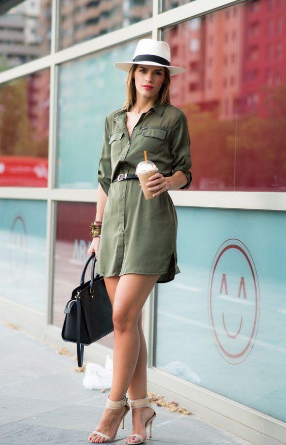 Looks con vestidos estilo camisa