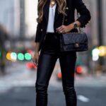Looks monocromáticos con leggins de cuero