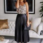 Outfits con faldas midi para verano