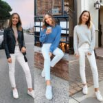Outfits con jeans blancos