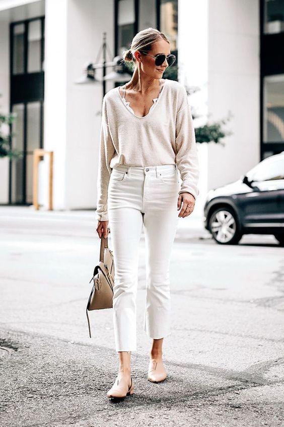 Outfits con jeans de mezclilla rectos