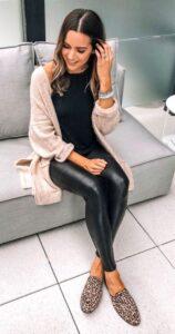 Outfits con pantalones de cuero
