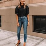 Si quieres alargar tus piernas usa skinny jeans negros