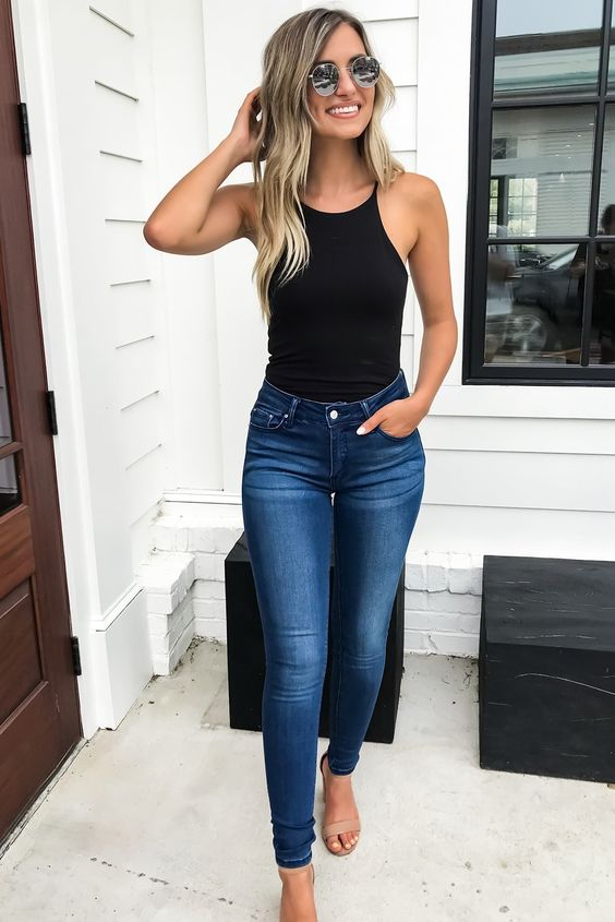 Skinny jeans con bodysuits