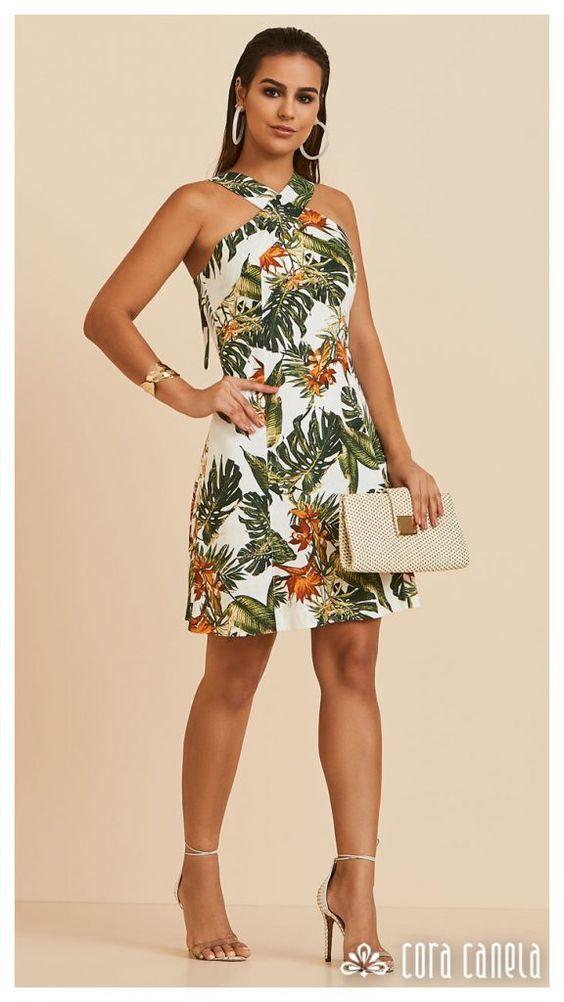 Vestidos cortos con estampado floral