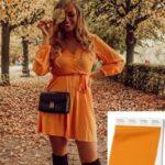Vestidos en color naranja para otoño