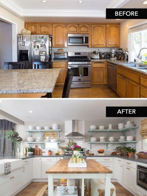 Diseños antes y después cocinas modernas