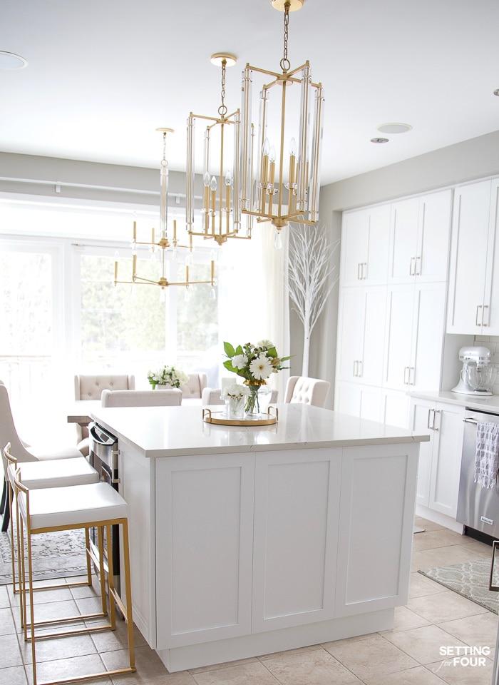 Iluminación de una cocina antes y después